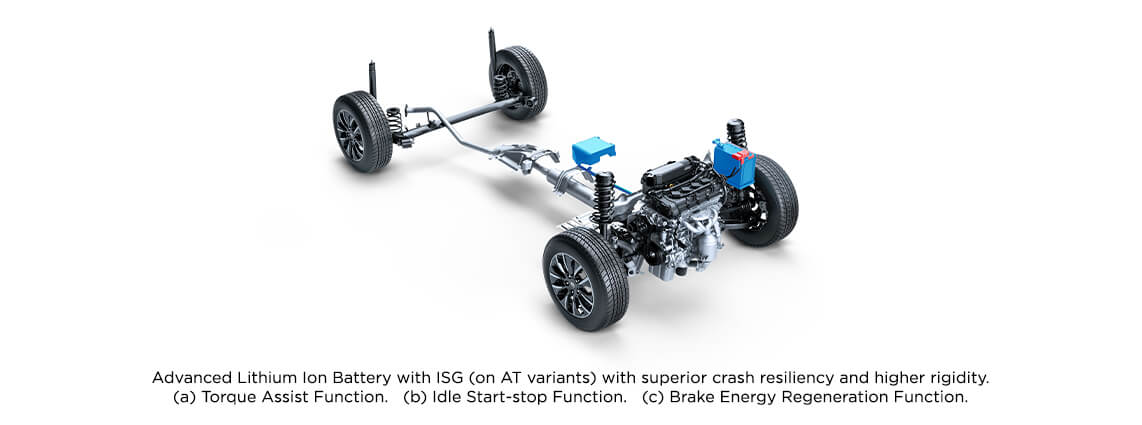 With advance Li-ion battery with ISG - Toyota Urban Cruiser